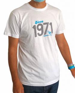 T-shirt blanc 70's